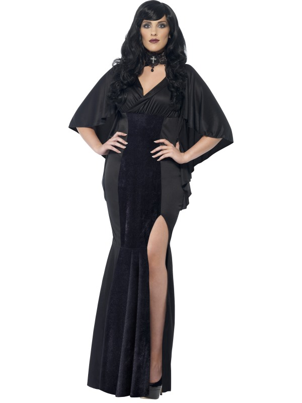 Adult Sexy Gothic Vampiress Ladies Halloween Vampire Party Fancy Dress Costume