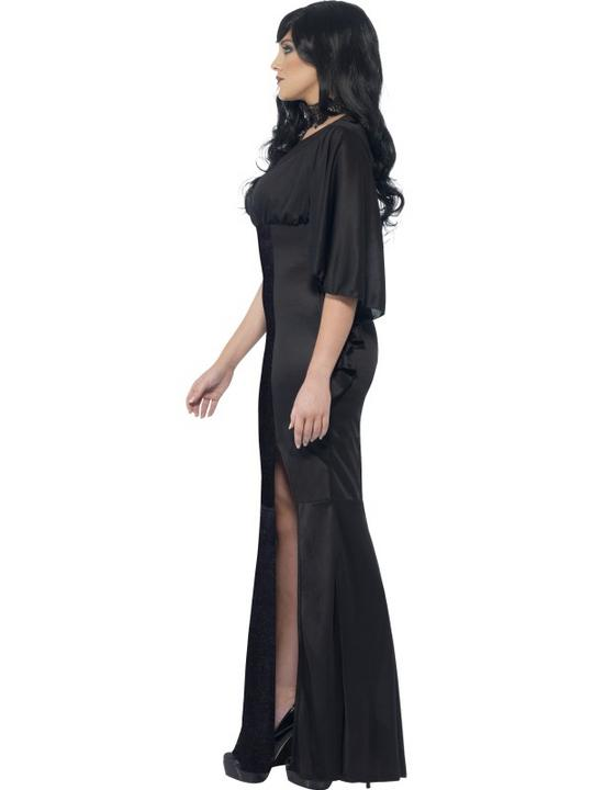 Adult Sexy Gothic Vampiress Ladies Halloween Vampire Party Fancy Dress Costume Thumbnail 3