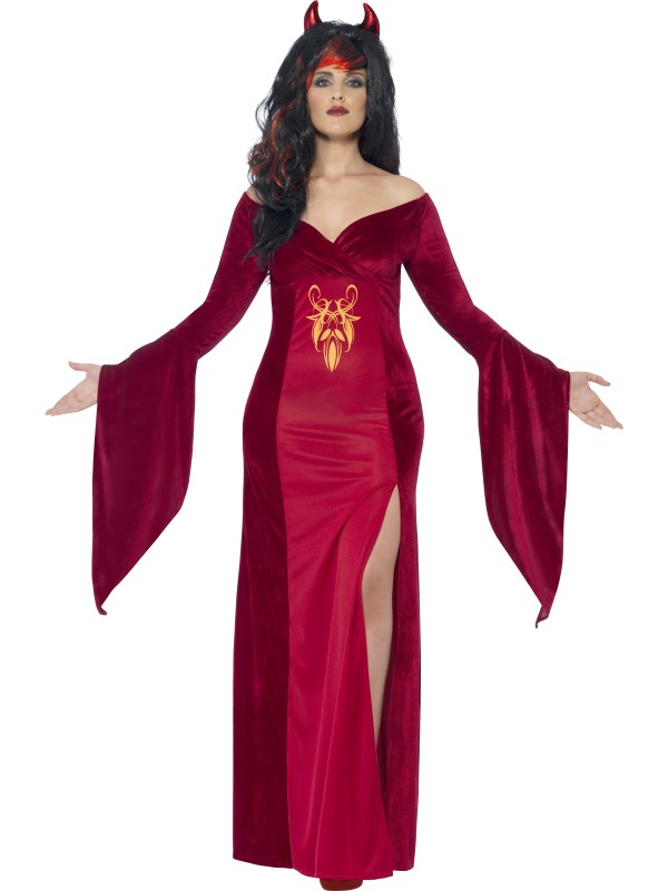 Adult Fuller Figure Sexy Demon Devil Ladies Halloween Party Fancy Dress Costume