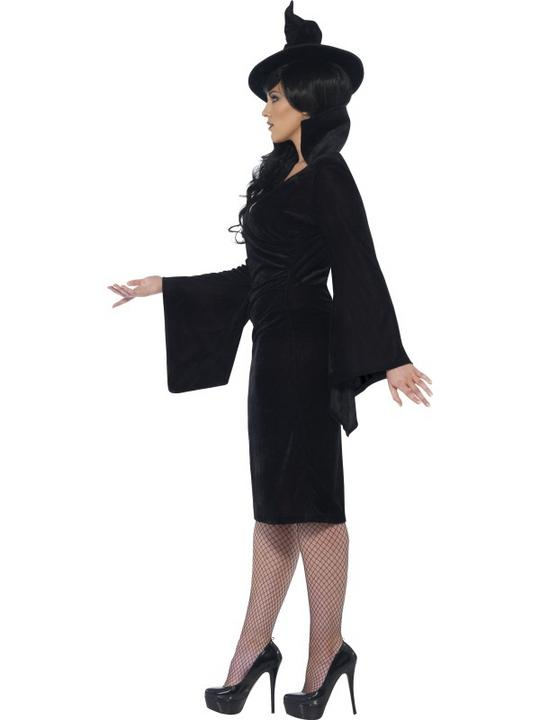 Adult Fuller Figure Sexy Witch Ladies Halloween Party Fancy Dress Costume Outfit Thumbnail 3