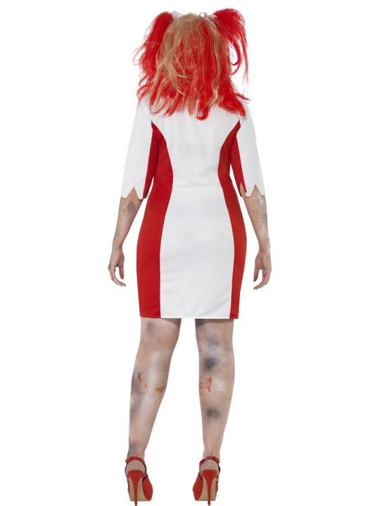 Adult Fuller Figure Sexy Zombie Nurse Ladies Halloween Party Fancy Dress Costume Thumbnail 2