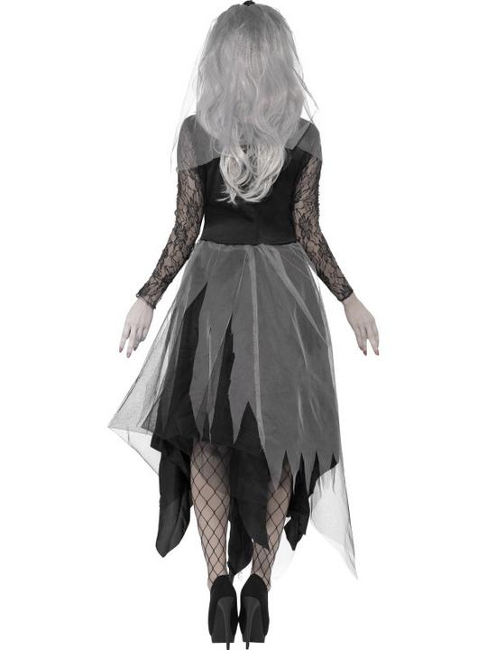 Adult Zombie Graveyard Ghost Bride Ladies Halloween Fancy Dress Costume Outfit Thumbnail 2