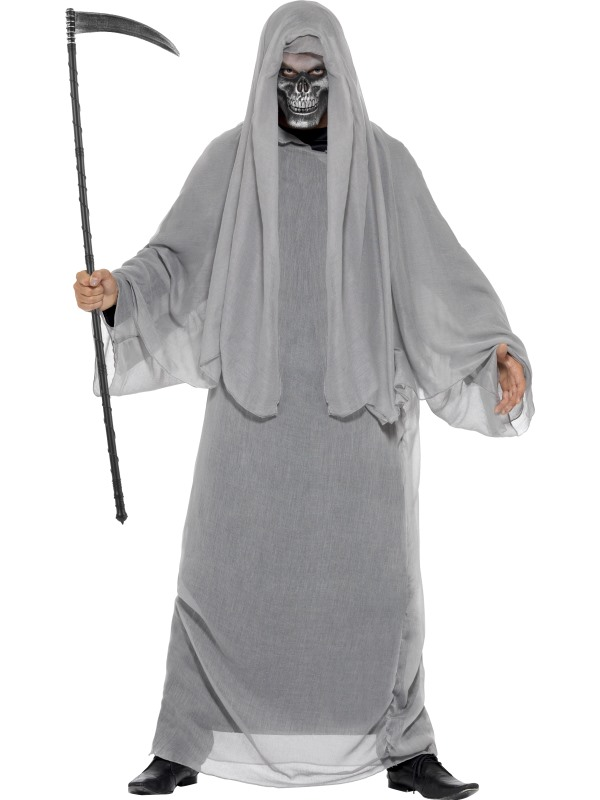 SALE! Adult Grim Death Reaper Mens Halloween Horror Fancy Dress Costume Outfit