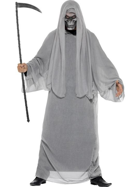 SALE! Adult Grim Death Reaper Mens Halloween Horror Fancy Dress Costume Outfit Thumbnail 1