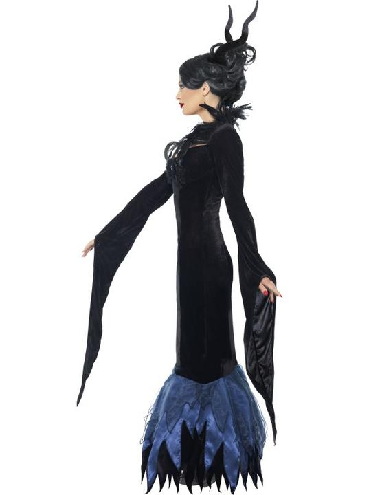 Adult Sexy Maleficent Raven Ladies Halloween Party Fancy Dress Costume Outfit Thumbnail 3