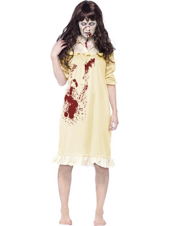 Adult Walking Dead Zombie Sinister Dreams Ladies Halloween Fancy Dress Costume Thumbnail 1