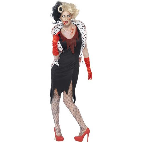 SALE Adult Zombie Evil Madame Ladies Halloween Horror Fancy Dress Costume Outfit Thumbnail 1