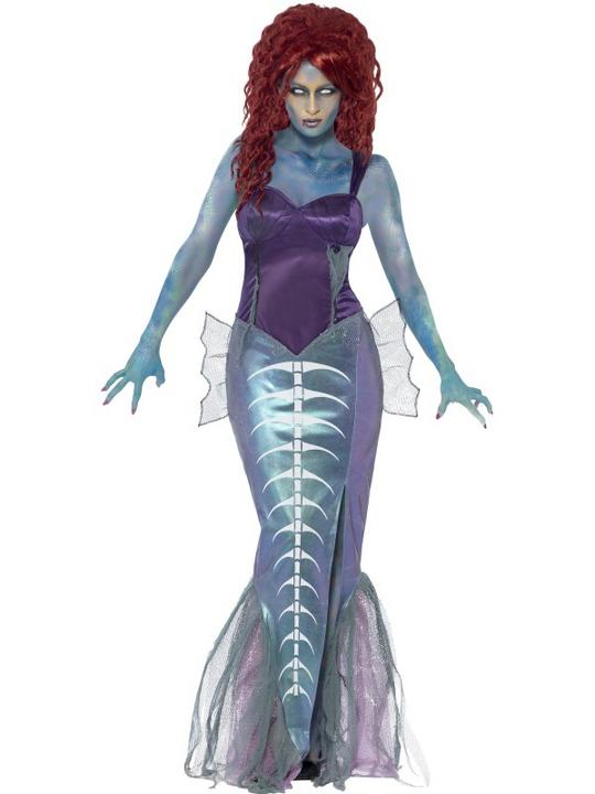SALE! Adult Zombie Mermaid Ladies Halloween Party Fancy Dress Costume Outfit Thumbnail 1
