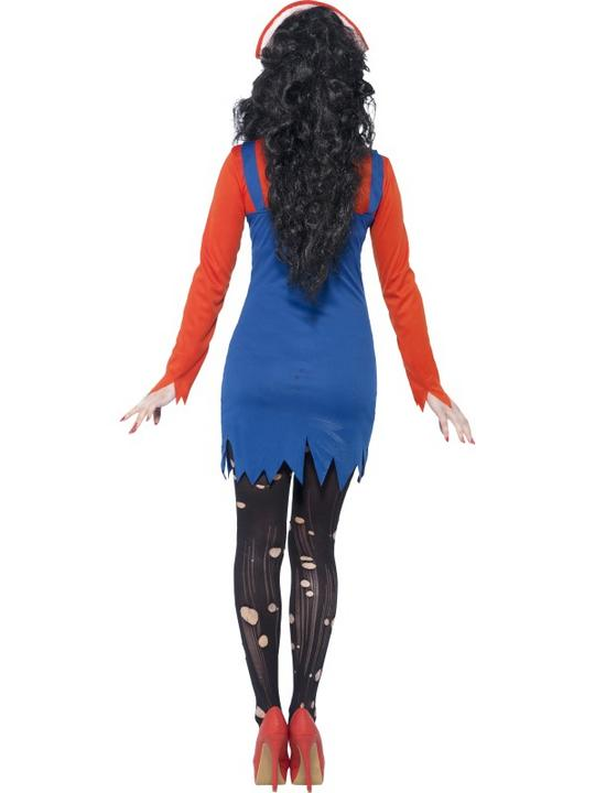 SALE Adult Dead Zombie Plumber Ladies Halloween Party Fancy Dress Costume Outfit Thumbnail 2