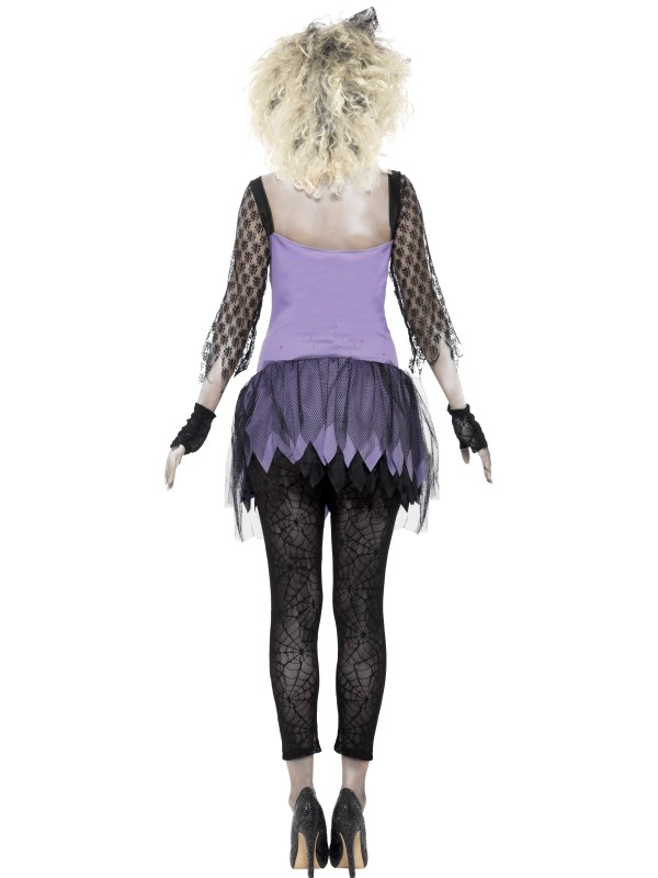 Adult Zombie Madonna 80s Wild Child Ladies Halloween Party Fancy Dress Costume Thumbnail 2