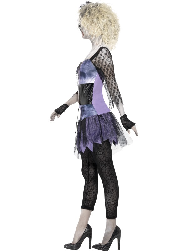 Adult Zombie Madonna 80s Wild Child Ladies Halloween Party Fancy Dress Costume Thumbnail 3