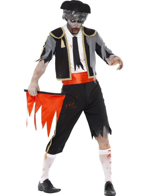 Adult Zombie Spanish Matador Mens Halloween Party Fancy Dress Costume Outfit Thumbnail 1