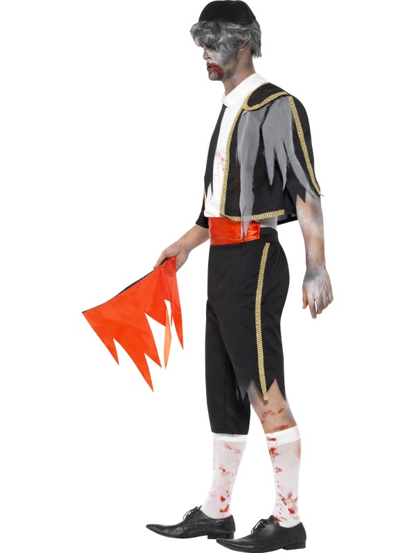 Adult Zombie Spanish Matador Mens Halloween Party Fancy Dress Costume Outfit Thumbnail 3