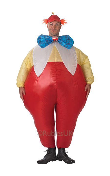 SALE! Adult Inflatable Tweedle Dee And Dum Mens Fancy Dress Costume Party Outfit Thumbnail 1