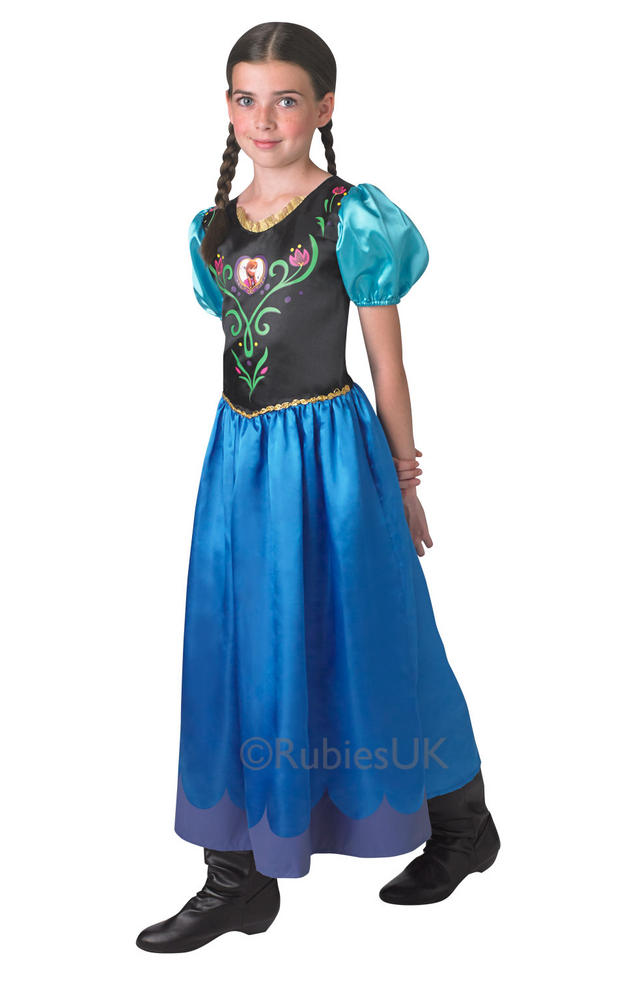 SALE! Kids Licensed Disney Frozen Princess Anna Girls Fancy Dress Childs Costume
