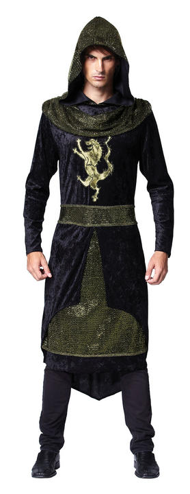 SALE! Adult Medieval Dark Prince Mens Halloween Party Fancy Dress Costume Outfit Thumbnail 1