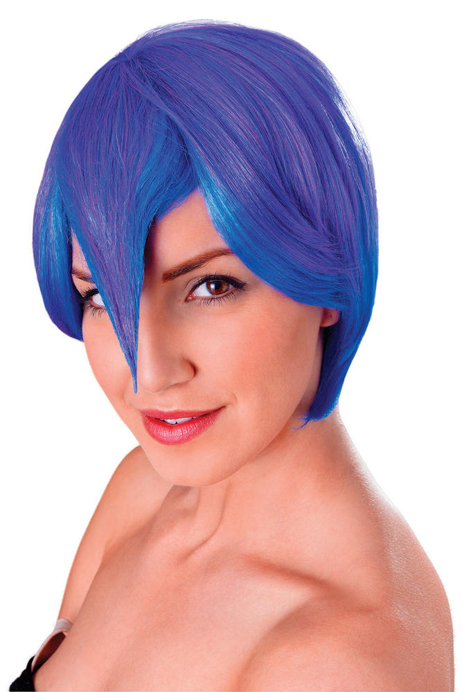 Cosplay Manga Blue /Purple Wig