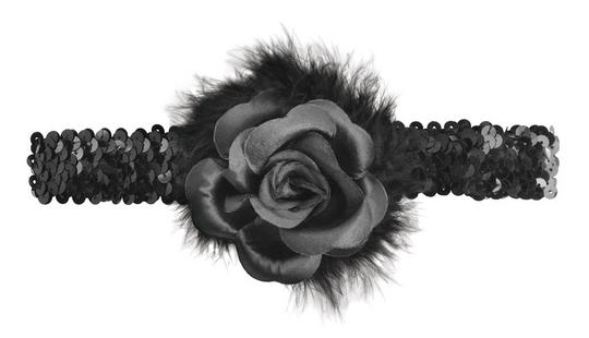 Black Rose Flapper Headband  Thumbnail 1