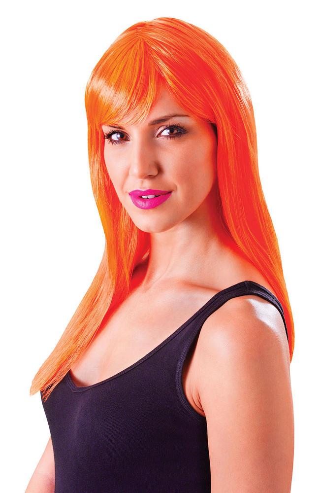 Neon Orange Passion Wig
