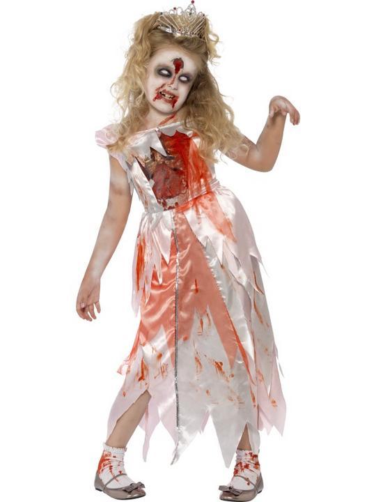 Kids Living Dead Zombie Sleeping Princess Girls Halloween Fancy Dress Costume Thumbnail 1