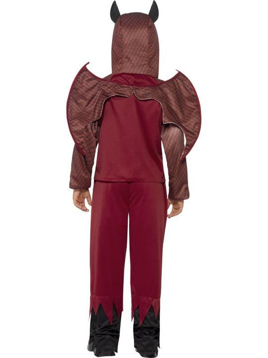 Boys Halloween Deluxe Devil Costume Kids Horror Fancy Dress Outfit Thumbnail 2