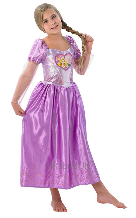 Disney Princess Loveheart Rapunzel Girls Book Week Fancy Dress Childs Costume Thumbnail 1