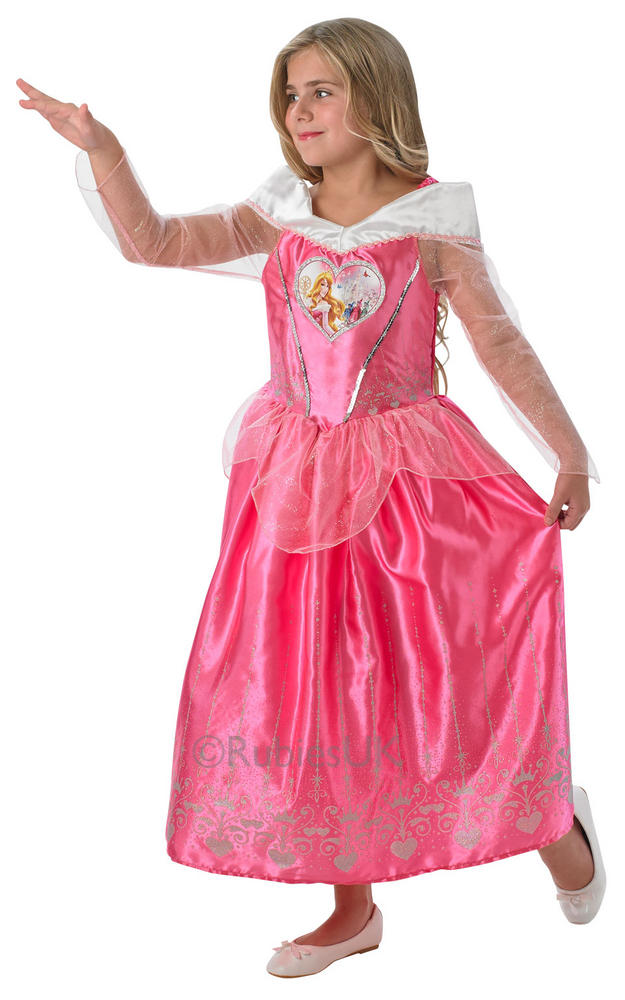 Disney Loveheart Princess Sleeping Beauty Girls Book Week Fancy Dress Costume