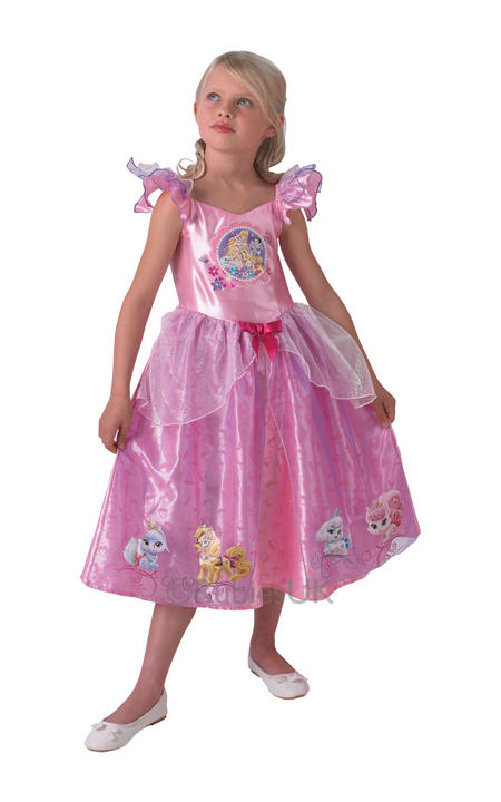 Child Licensed Disney Princess Palace Pets Fancy Dress Costume Thumbnail 1