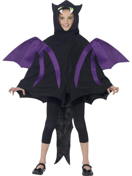 Kids Hooded Dragon Creature Cape Boys Halloween Party Fancy Dress Childs Costume Thumbnail 2