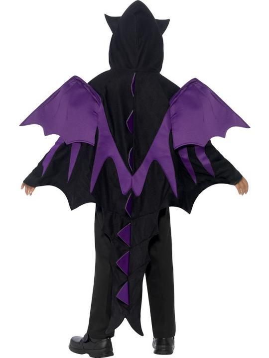 Kids Hooded Dragon Creature Cape Boys Halloween Party Fancy Dress Childs Costume Thumbnail 3