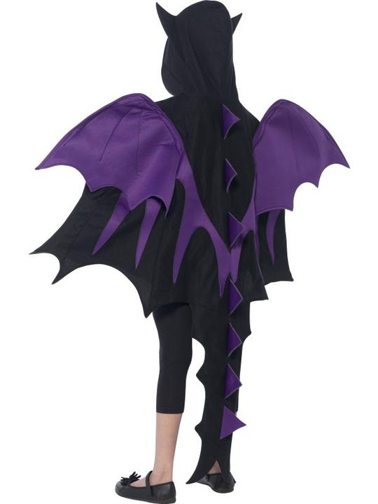 Kids Hooded Dragon Creature Cape Boys Halloween Party Fancy Dress Childs Costume Thumbnail 4