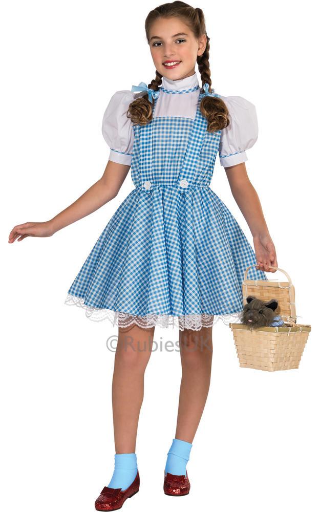 Wizard Of Oz Dorothy Child Sequin Fancy Dress Licensed Costume Book Week Kids