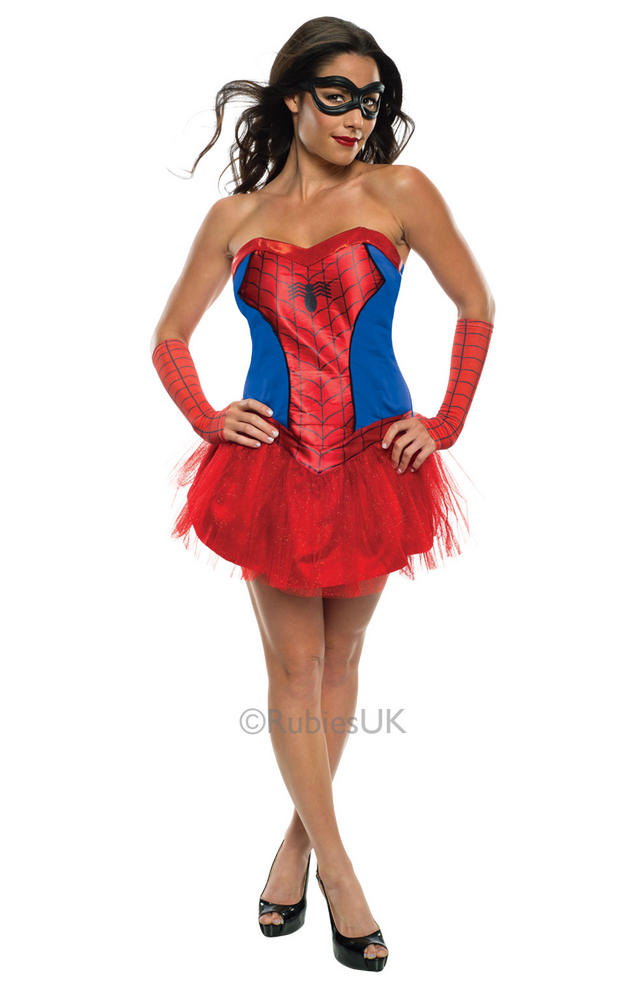 Sexy Marvel Superhero Miss Spider Girl Ladies Fancy Dress Costume Party Outfit