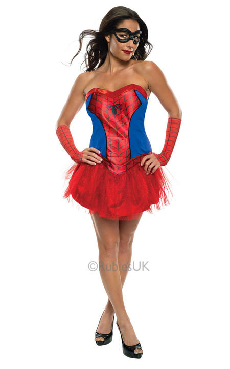 Sexy Marvel Superhero Miss Spider Girl Ladies Fancy Dress Costume Party Outfit Thumbnail 1