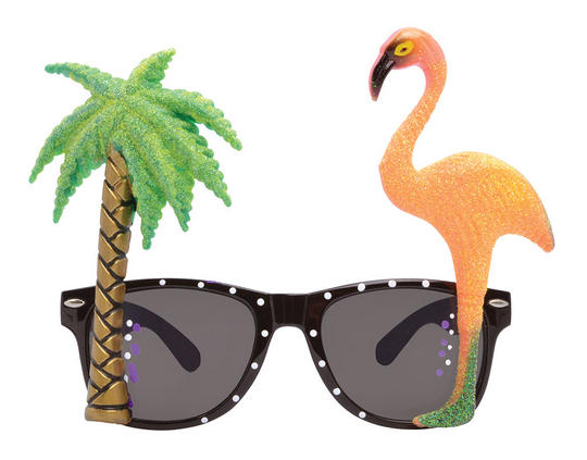 Flamingo/Palm Tree Glasses  Thumbnail 1