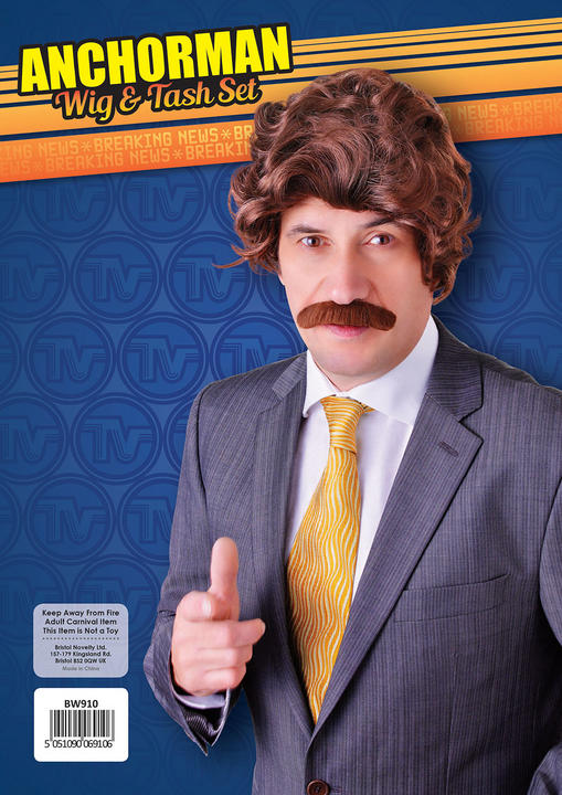 Anchorman Wig and Tash Set Thumbnail 2