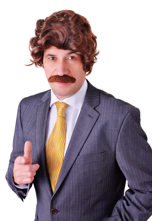 Anchorman Wig and Tash Set Thumbnail 1
