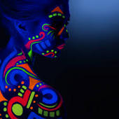 Ultra -violet Neon Face Paint