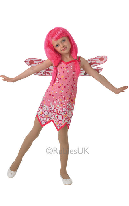 Kids Classic Mia and Me Pink Fairy Girls Fancy Dress Childs Costume Party Outfit Thumbnail 1