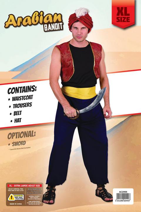 Adult Arabian Bandit Costume Extra Large Thumbnail 2