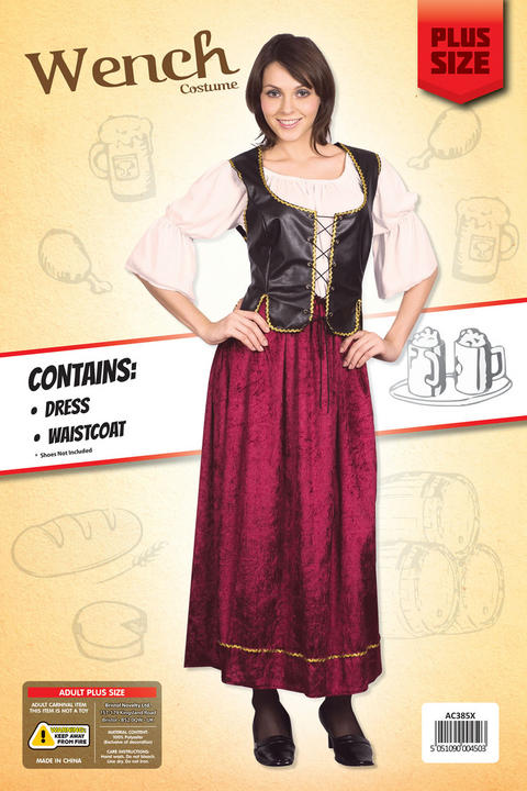 Adult Wench Costume Plus Size Thumbnail 2