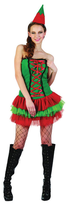 Adult Christmas Elf Costume Thumbnail 1