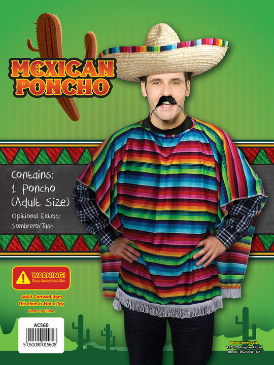 Adult Mexican Poncho Costume Thumbnail 2