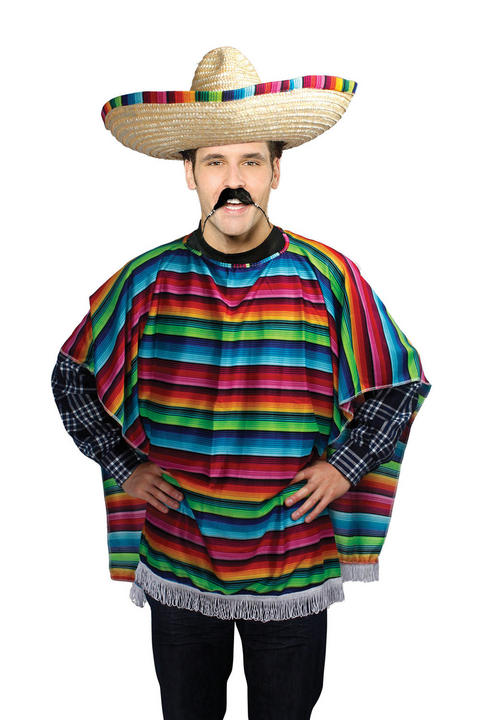 Adult Mexican Poncho Costume Thumbnail 1