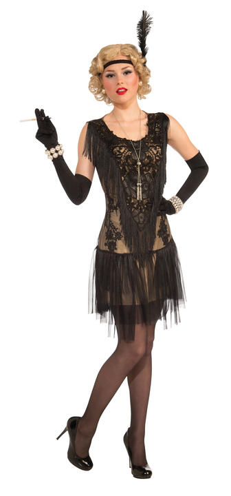 Adult Lacey Lindy Deluxe Flapper Dress Costume Thumbnail 1
