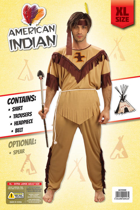 Indian Man Budget Costume Extra Large Thumbnail 2