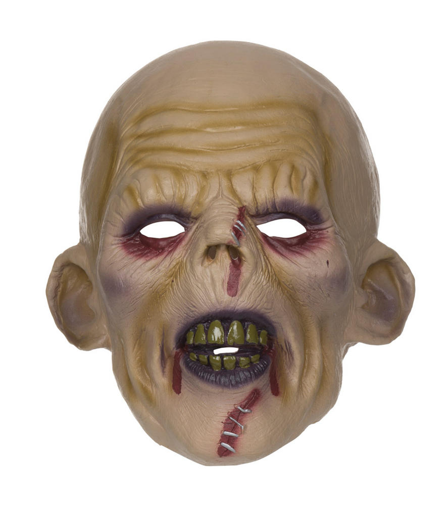 Mens Horror Zombie Stitched Halloween Face Mask Fancy Dress Accessory