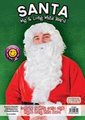 Santa Wig + Long Bread. White