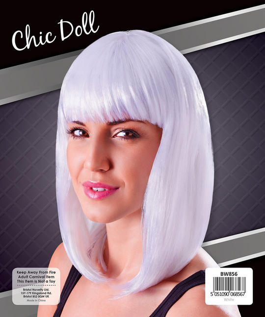 Womens Chic Doll Wig White Thumbnail 1