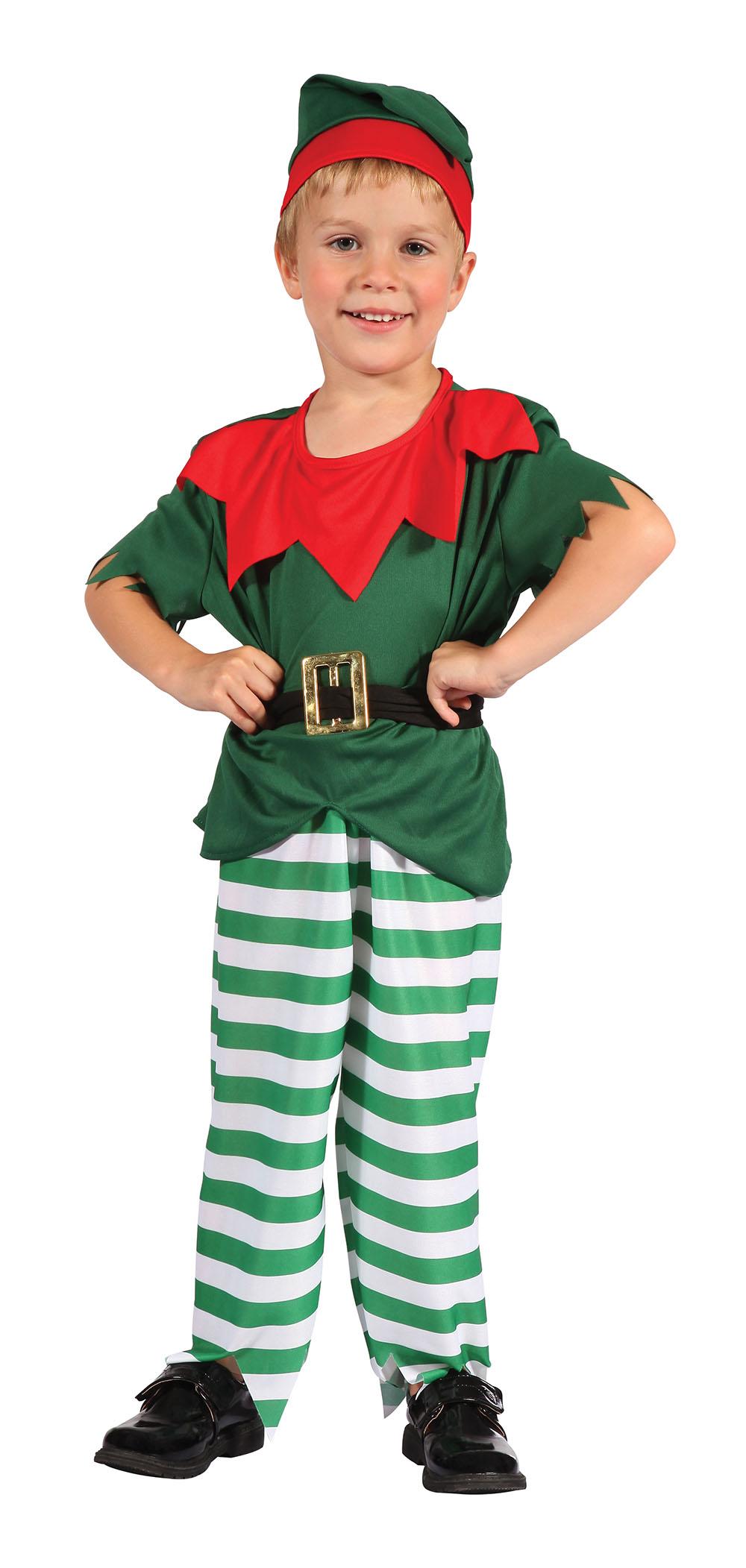 Santa Helper Boy Toddler Fancy Dress Costume Thumbnail 1